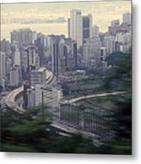 View Of Hong Kong Metal Print