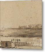View Of Houtewael Near The Sint Anthoniespoort [recto] Metal Print