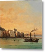 View Of Ischia From The Sea Metal Print