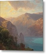 View Of Lac De Lucerne Seen From The Seelisberg, Switzerland Metal Print