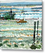 View Of Lighthouse Point Metal Print