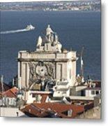 View Of Lisbon Harbor Metal Print