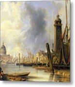View Of London With St Paul's Metal Print