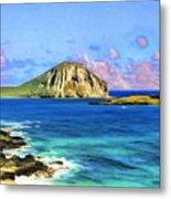 View Of Makapuu And Rabbit Island Metal Print