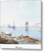 View Of Malta Metal Print