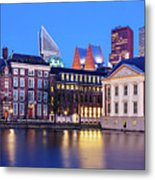 View Of Mauritshuis And The Hofvijver - The Hague Metal Print