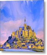 View Of Mont Saint Michel Metal Print