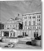 View Of Montgomery County Courthouse From The Southside In Black Metal Print