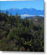 View Of Mount Baldy From The San Bernardino Mountains Metal Print