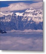 View Of Mount Everest In Nepal Metal Print