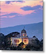 View Of National Observatory Of Athens In The Evening, Athens, G Metal Print