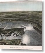 View Of Niagra Falls 1907 Metal Print