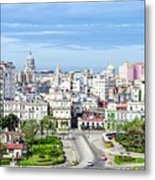 View Of Old Town Havana Metal Print