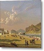 View Of Palermo 1845, Robert Salmon Metal Print