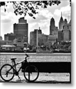 View Of Philadelphia  Metal Print by Andrew Dinh
