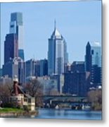 View Of Phliadelphia From West River Drive. Metal Print