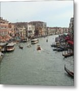 View Of Rialto Bridge Metal Print
