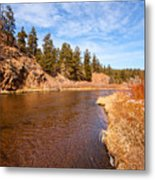 View Of River Around The Bend Metal Print