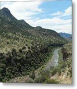 View Of Salt River Canyon Metal Print