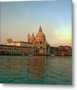View Of Santa Maria Della Salute On Grand Canal In Venice Metal Print
