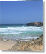 View Of Small Aruba Rock Formation On Boca Keto Metal Print