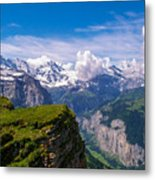 View Of The Swiss Alps Metal Print