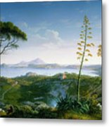 View Of The Bay Of Pozzuoli Metal Print