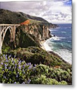 View Of The Bixby Creek Bridge Big Sur California Metal Print