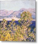 View Of The Cap Dantibes With The Mistral Blowing Metal Print