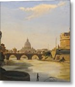 View Of The Castel Sant'angelo Metal Print