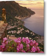 View Of The Coastline From The Hotel Metal Print