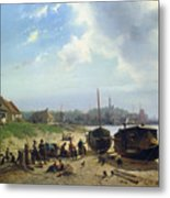 View Of The Dutch Coast Metal Print by Johan Gerard Smits