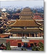 View Of The Forbidden City At Dusk From Metal Print by Axiom Photographic