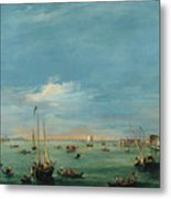 View Of The Giudecca Canal And The Zatter Metal Print