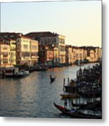 View Of The Grand Canal In Venice From The Rialto Bridge Metal Print