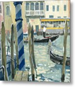 View Of The Grand Canal In Venice Metal Print