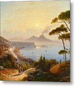 View Of The Gulf Of Naples Metal Print