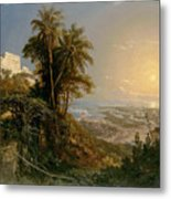 View Of The Harbor Of Puerto Cabello, Study Metal Print