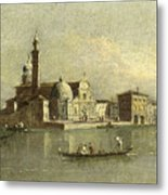 View Of The Isola Di San Michele In Venice Metal Print