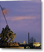 View Of The Iwo Jima Monument Metal Print by Kenneth Garrett