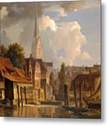 View Of The Little Alster Metal Print