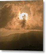View Of The Maleny Mountains Hinterlands. Metal Print