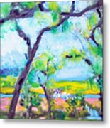 View Of The Marsh Metal Print