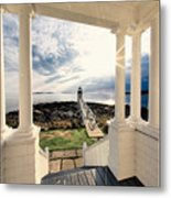 View Of The Marshall Point Lighthouse From The Keeper's House Metal Print