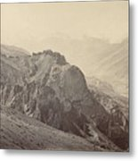 View Of The Mountains Of The Himalayas, Samuel Bourne, 1866 Metal Print