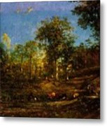 View Of The Pastures Of The Limousin 1835 Metal Print
