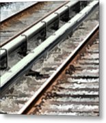 View Of The Railway Track  Metal Print