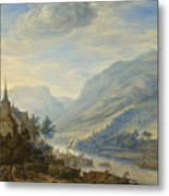 View Of The Rhine River Near Reineck Metal Print