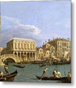 View Of The Riva Degli Schiavoni. Venice Metal Print