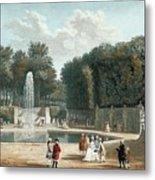 View Of The Tuileries Garden Metal Print